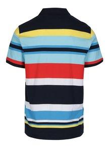 Tricou polo multicolor cu model in dungi - Original Penguin Engineered