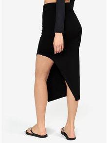 Čierna asymetrická sukňa s potlačou Ivy Park