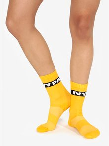 Súprava dvoch párov ponožiek v žltej farbe Ivy Park