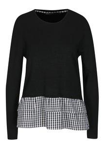 Černý lehký svetr ONLY Gingham