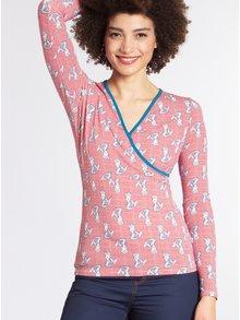 Bluza rosie cu print sirene Blutsgeschwister