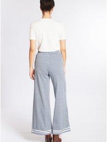 Pantaloni albastri largi cu imprimeu si talie elastica - Blutsgeschwister