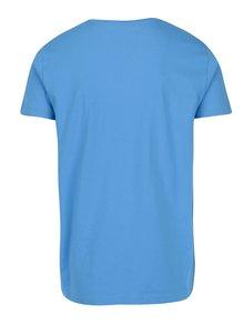 Modré pánské slim tričko s výšivkou loga GANT