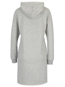 Svetlosivé melírované mikinové šaty s kapucňou GANT