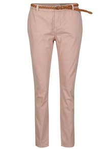 Pantaloni roz cu curea  VERO MODA Flame