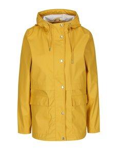 Žltá vodovzdorná bunda s kapucňou ONLY