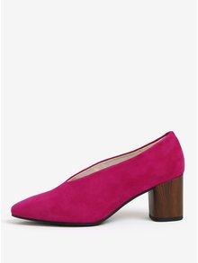 Pantofi retro roz din piele intoarsa Vagabond Eve