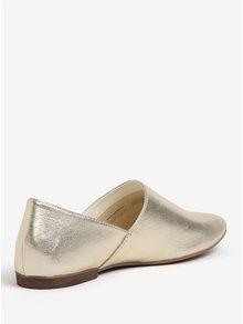 Pantofi slip-on aurii din piele Vagabond Ayden