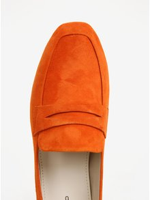 Mocasini portocalii din piele intoarsa Vagabond Ayden