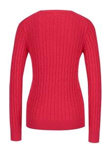 Červený dámsky sveter s osmičkovým vzorom GANT