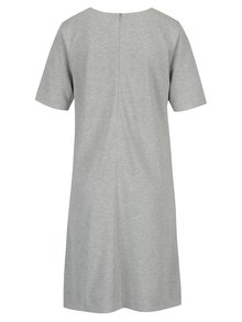 Svetlosivé melírované šaty s krátkym rukávom GANT