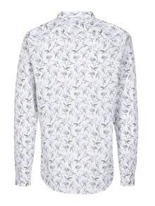Bílá slim fit košile s motivem sokola Jack & Jones Frederick