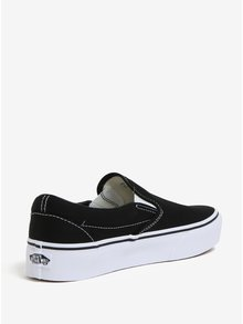 Pantofi negri slip-on cu platforma VANS Classic
