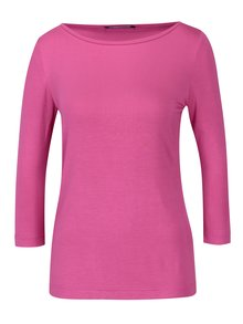 Růžové dámské tričko s 3/4 rukávem Pietro Filipi