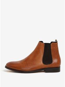 Svetlohnedé pánske kožené chelsea topánky Royal RepubliQ