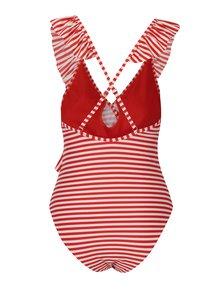Krémovo-červené pruhované jednodielne plavky Y.A.S Samui
