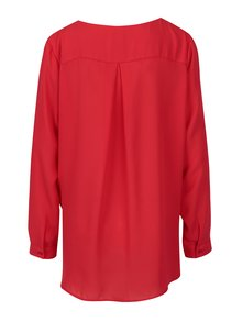 Bluza lejera rosie cu nasturi ascunsi - VILA Lucy