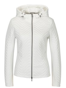 Bílá dámská lehká perforovaná bunda s kapucí Geox