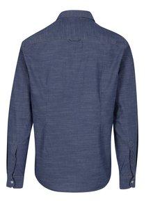 Camasa albastra slim fit cu model pentru barbati - s.Oliver