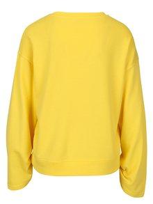 Bluza galbena cu snur pentru ajustarea manecilor  Jacqueline de Yong Alpha