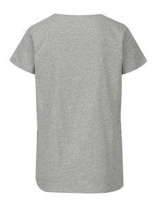 Sivé melírované voľné tričko s potlačou Jacqueline de Yong New Sky