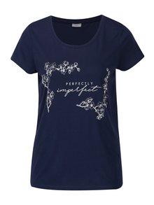 Modré voľné tričko s potlačou Jacqueline de Yong New Sky
