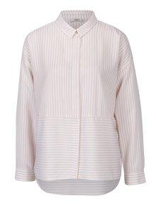 Ružová pruhovaná košeľa s dlhým rukávom ONLY Elenas