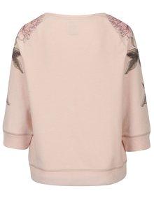 Bluza roz cu print floral si maneci 3/4 ONLY Scarlet