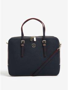 Tmavě modrá dámská taška na notebook Tommy Hilfiger