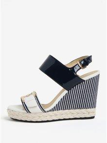 Krémovo-modré sandále na platforme Geox Janira