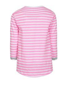 Bielo-ružové dievčenské tričko s nášivkou 5.10.15.