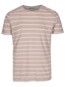 Tricou roz-prafuit in dungi Selected Homme Max