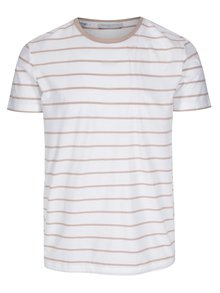Tricou alb&roz prafuit in dungi Selected Homme Max