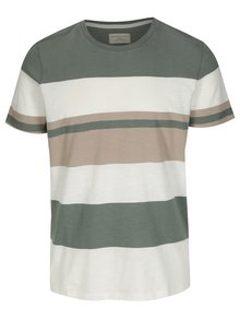 Tricou verde&crem in dungi Selected Homme New Rune