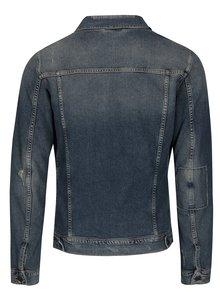 Modrá rifľová bunda s potrhaným efektom Selected Homme Jeppe