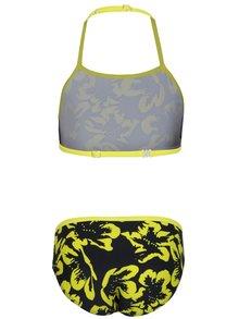 Žlto–čierne dievčenské dvojdielne kvetované plavky name it Zummer