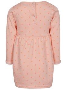Oranžové dievčenské šaty s nášivkou 5.10.15.