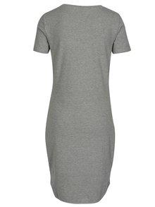 Sivé šaty s krátkym rukávom Noisy May Summer