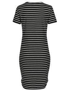 Bílo-černé pruhované šaty s krátkým rukávem Noisy May Summer
