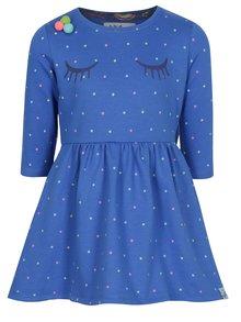 Modré dievčenské vzorované šaty 5.10.15.
