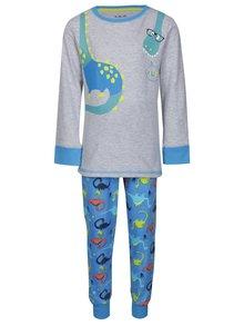 Modro-sivé chlapčenské dvojdielne pyžamo s motívom dinosaurov 5.10.15.