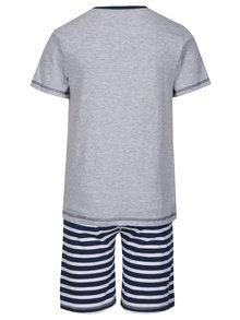 Modro–sivé chlapčenské dvojdielne pyžamo s potlačou 5.10.15.
