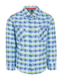 Modrá klučičí kostkovaná košile 5.10.15.