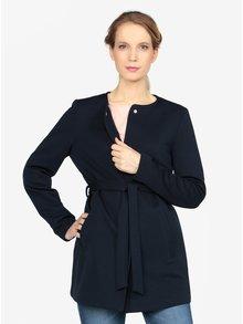 Tmavě modrý kabát s páskem VERO MODA Mira