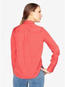 Krémovo-červená vzorovaná košeľa VERO MODA Nicky