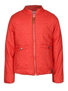 Červená holčičí prošívaná voděodolná bunda s kapsami 5.10.15.