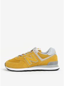 Žlté pánske semišové tenisky New Balance ML574