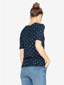 Tmavě modré dámské puntíkované tričko Tommy Hilfiger