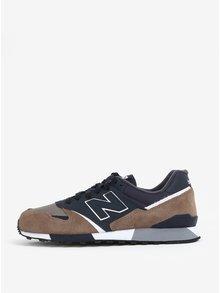 Modro-hnědé pánské semišové tenisky New Balance U446
