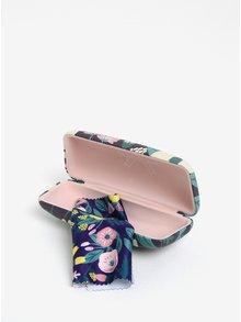 Fialové květované pouzdro na brýle CGB